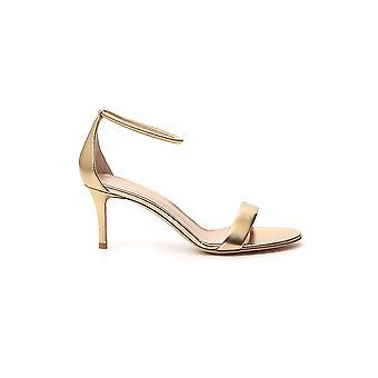 Gianvito Rossi G6136370ricnpsmeko Women's Gold Leather Sandals