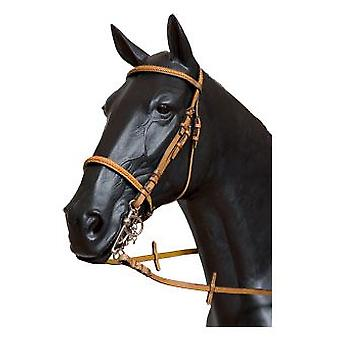 Galequus English Bridle T-7 Front. And Mus. Trenz Full Avellana