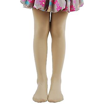 Leg Elegant Girls Microfiber Soft Opaque Solid Colored Footed Tights (5-7, Sk...