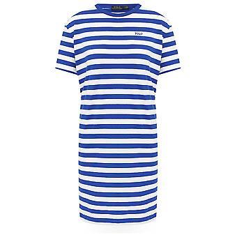 Gestreiftes Logo T-Shirt Kleid