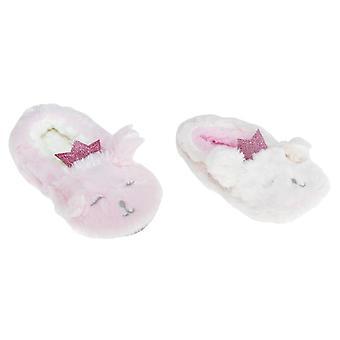 Slumberzzz Kids/Girls Plush Rabbit Slipers