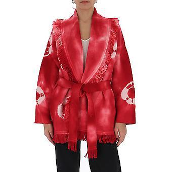 Alanui Lwhb019s20kni0103201 Women's Fuchsia Cotton Cardigan