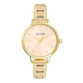 Sophie and Freda Milwaukee Bracelet Watch - Gold/Rose Gold