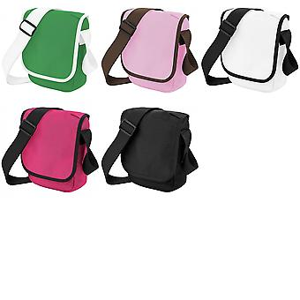 Bagbase Mini Adjustable Reporter / Messenger Bag (2 Litres) (Pack of 2)