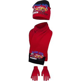Disney cars hat scarf and gloves winter set