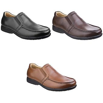 Fleet & Foster Mens Gordon Dual Fit Leather Moccasin