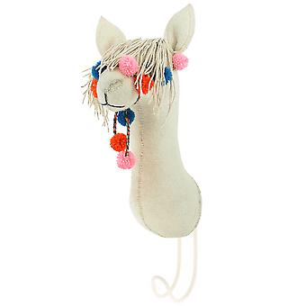 Fiona Walker England Big Felt Llama Head Coat Hook