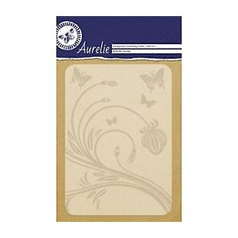 Aurelie Butterfly Festival Background Embossing Folder