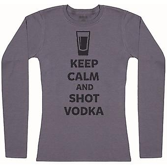 Keep Calm And Shot Vodka - Womens Long Sleeve T-Shirt
