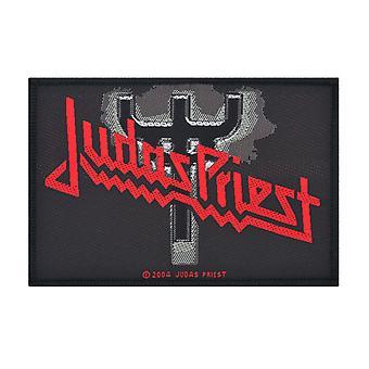 Judas Priest gaffel logotyp vävda plåster
