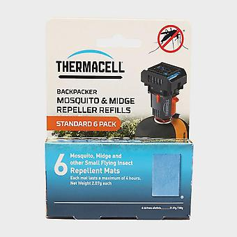 New Thermacell Backpacker Mosquito Repellent Refill Mats 6 Pack Blue