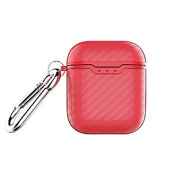 Airpods koffer-extra schokbestendig-rood