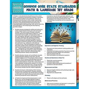 Common Core State Standards Math And Language 1st Grade Speedy Study Guides by Publishing LLC & Speedy