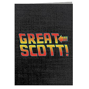 Back To The Future Great Scott Greeting Card
