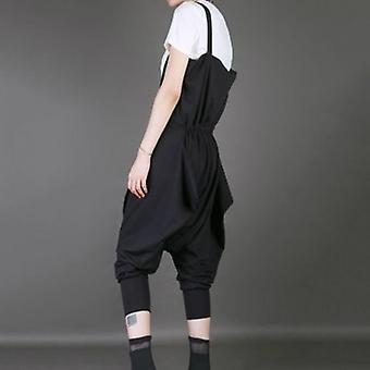 Loose Strap Split Joint Harem Pants