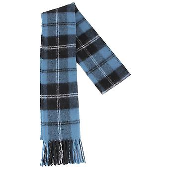 Locharron of Scotland Ramsay Ancient Lambswool Scarf - Blue/Black/White