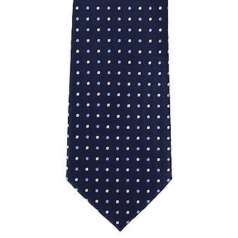 Michelsons di colore tonale Londra Spot poliestere cravatta - Navy