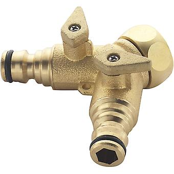 Spear & Jackson BWF14 BWF14 2-way Messing Tap Connector, Brons, 3/4-inch