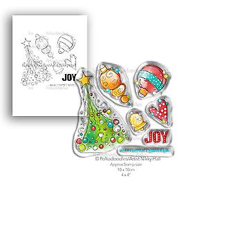 Polkadoodles Deck the Halls Clear Stamps