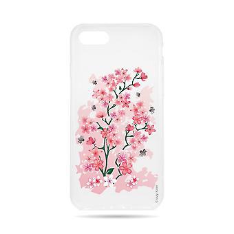 Funda para IPhone 8 Transparente Flexible Patrón de Flor de Cerezo