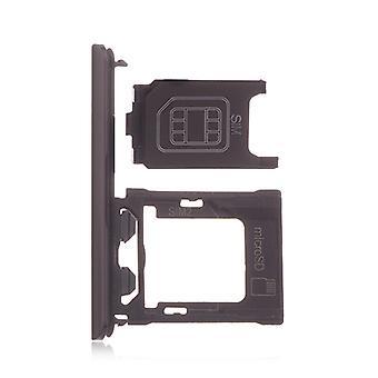 Dubbla svarta SIM-fack för Sony XZ1 1309-6695 | iParts4u
