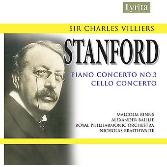 C.V. Stanford - Sir Charles Villiers Stanford: Piano Concerto No. 3; Cello Concerto [CD] USA import