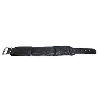 العسكرية الجلود السوداء ووتش حزام مونتانا الحبوب الفولاذ المقاوم للصدأ مشبك 16mm و 18mm