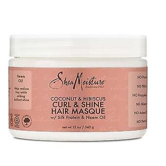 Shea Moisture Coconut & Hibiscus Curl & Shine Hair Masque 340g