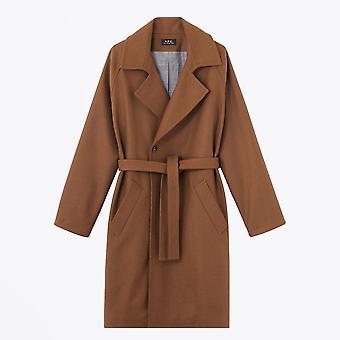 A.P.C.  - بيكرستريت - حزام من الصوف معطف - براون