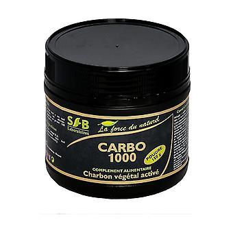 Carbo 1000, activated vegetable charcoal powder 150 g of powder