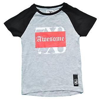 T-shirt med tryck, Grå