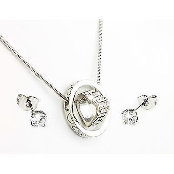 2 X Spirit Collection - Rosa y Plata Incrustada con Cristales de Swarovski