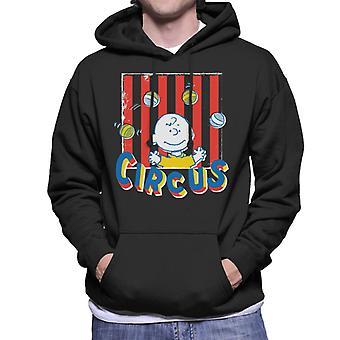 Peanuts Circus Juggling Charlie Brown Men's Hooded Sweatshirt