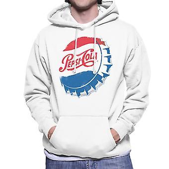Pepsi Cola Retro 1950s Bottlecap Men's Hooded Sweatshirt