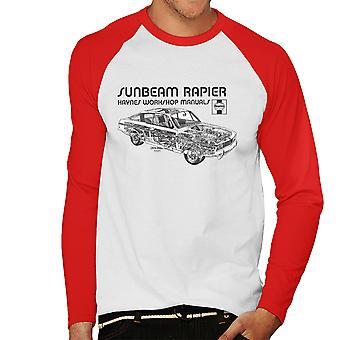 Haynes proprietários Workshop Manual 0012 Sunbeam Rapier preto Baseball masculino t-shirt de mangas compridas