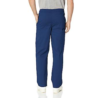 Essentials Men's Quick-Dry Stretch Scrub Pant, Navy, Mici