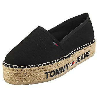 Tommy Jeans Surplus Womens Espadrille Shoes in Black