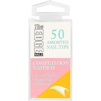 The Edge Nails Valse Nagel Tips - Competition Natural (Maat 9) (50 stuks)