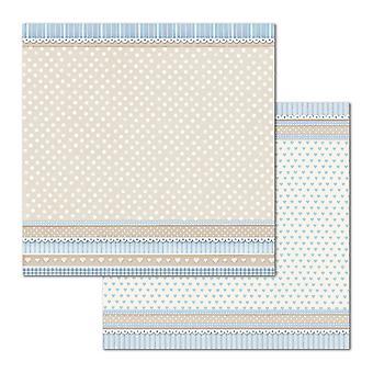 Stamperia Little Boy Textur Pois 12 x 12 Zoll Papierblätter (10pcs) (SBB686)