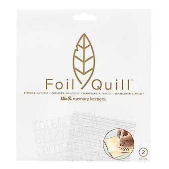 We R Memory Keepers Foil Quill Freestyle Basics Stencils
