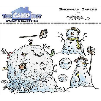 The Card Hut Snowman Capers Clear Stamps