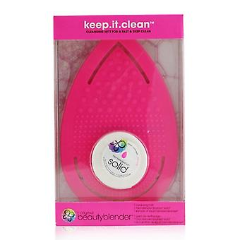 BeautyBlender Keep It Clean (1x Cleansing Mitt, 1x Mini Blendcleanser Solid) 2pcs