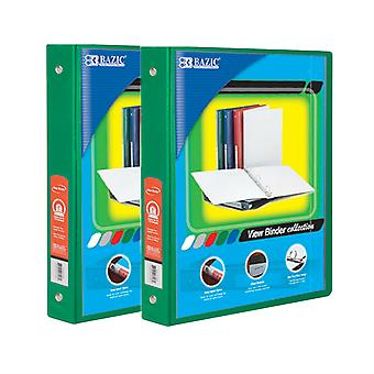 Combo64, BAZIC 1.5 Inch 3-Ring View Binder with 2-Pockets (Case pack of 24: Green)
