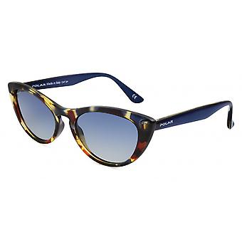 Sunglasses Women Polarized Flamed Brown/Blue (P8000429)