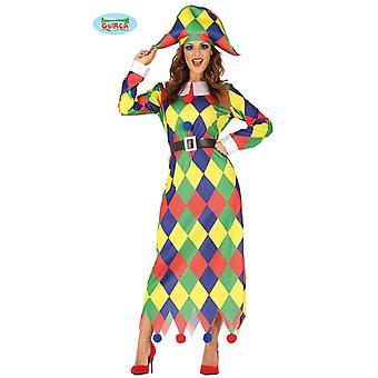 Tromper le costume de bouffon Eulenspiegel Arlequin robe costume Mesdames