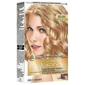 L'oreal paris superior preference hair color, golden blonde 8g, 1 kit *