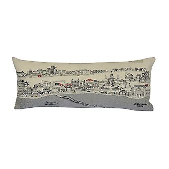 Spura Home New Orleans Novelty Skyline Contemporary Wool Day/Night Cushion