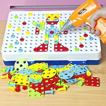 Elektrische Bohrmutter Demontage Match Tool, pädagogische, Blöcke Sets Spielzeug