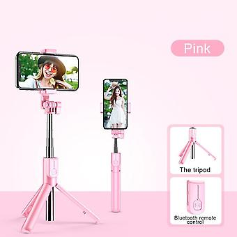 Wireless Blutooth Selfie Stick For Smartphone Foldable Handheld Monopod Shutter Remote Tripod