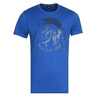Diesel Head Logo Blue T-Shirt